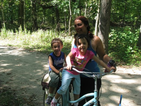 Family on Bike - Working Mom's Tips to Staying Fit