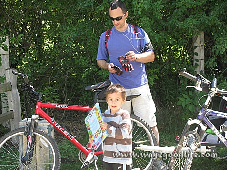 Bike stop sunscreen