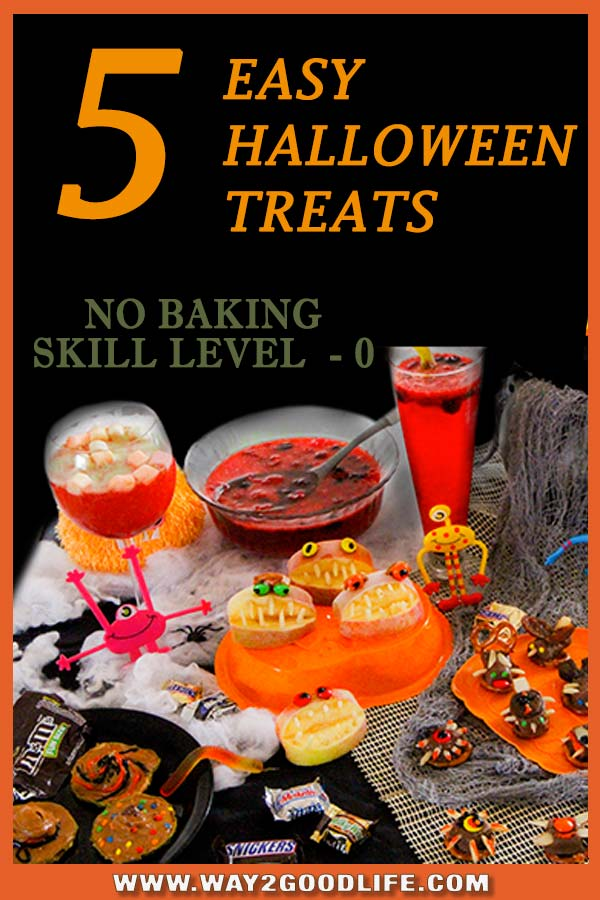 5 EASY HALLOWEEN TREATS that require no skills, no baking, practically no time and are super delicious
