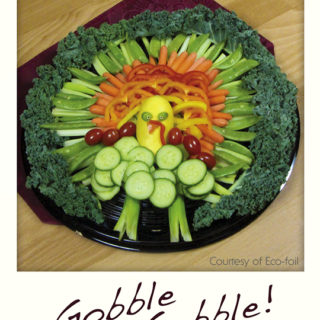 Vegetable Turkey on a Round Platter
