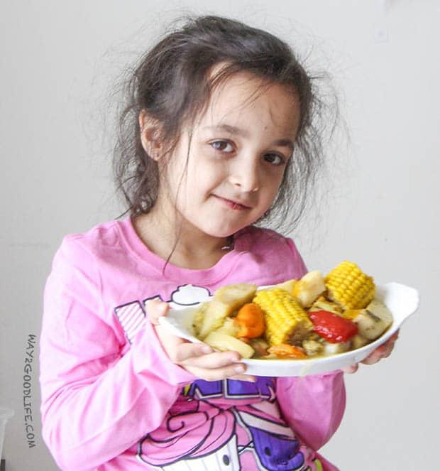 Girl w vegetables