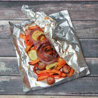 Grill Your Dinner in a Foil Pouch – From a Freezer to a Table in under 15 Minutes