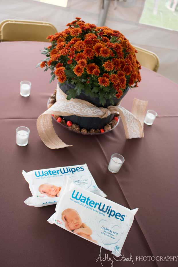 WaterWipes on table