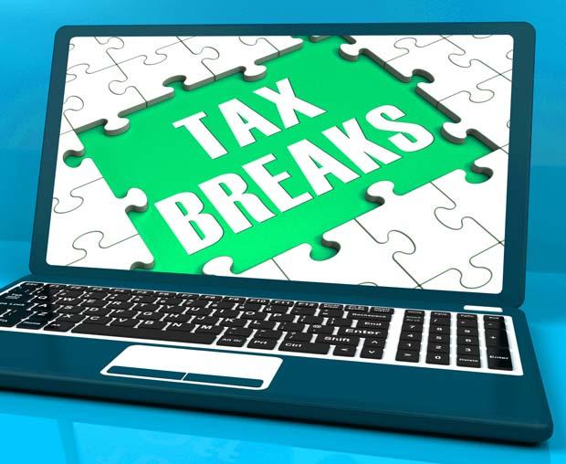 tax-breaks-on-laptop-showing-internet-taxes