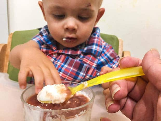Mixing Baby Food Flavors
