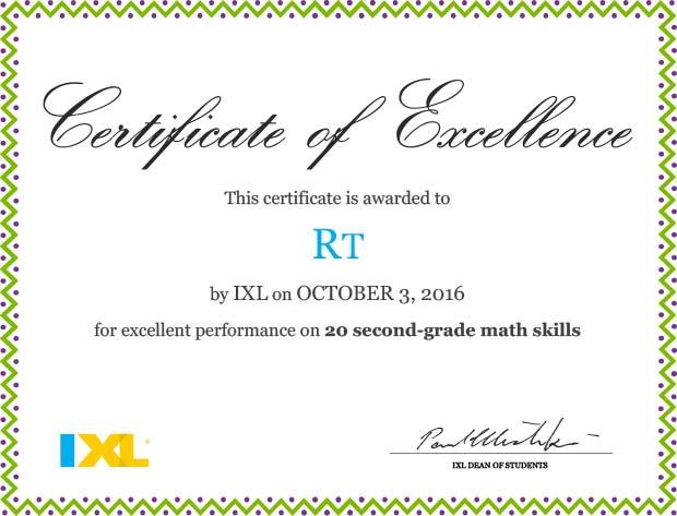 ixl-certificate