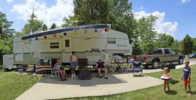We Are At Lake Rudolph Campground Santa Claus Indiana