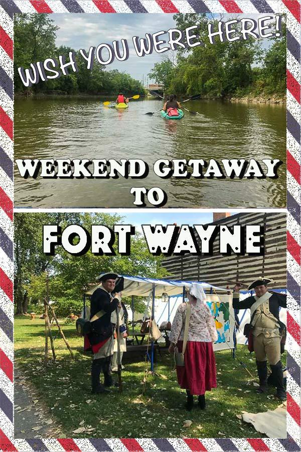 Fort Wayne Weekend Family Getaway Printable Travel Card