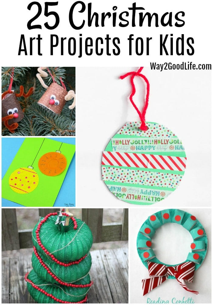 25 Christmas Art Project Ideas for Kids