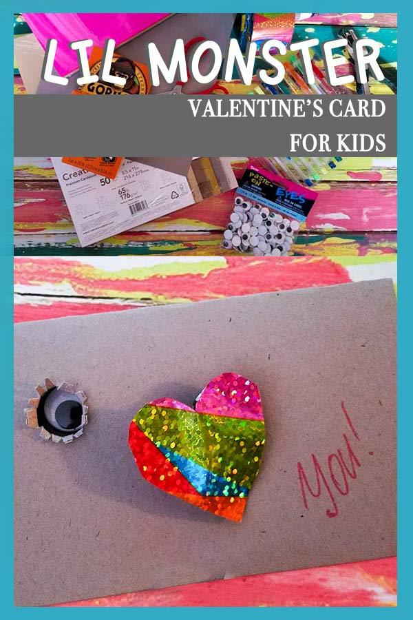 Lil Monster Valentine's Card for kids
