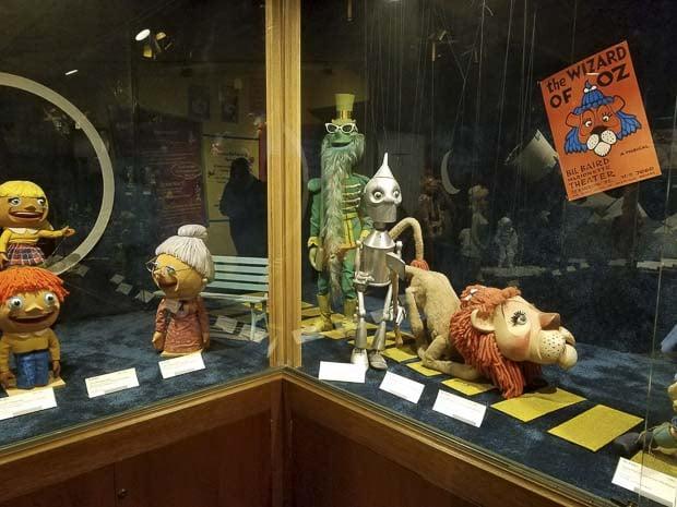 Mason City Charles H MacNider Art Museum puppets of Bil Baird