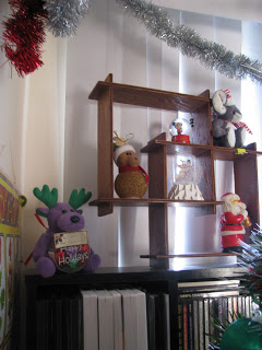 Christmas Creative Shelf with decorations