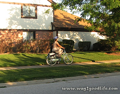 Riding Huffy to Grocery Store on the way