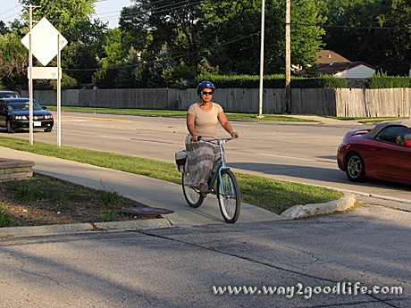 Riding Huffy to Grocery Store - going back
