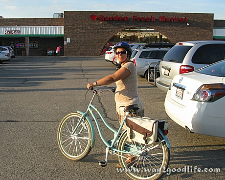 Riding Huffy to Grocery Store - made it