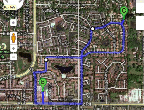 Riding Huffy to Grocery Store Map