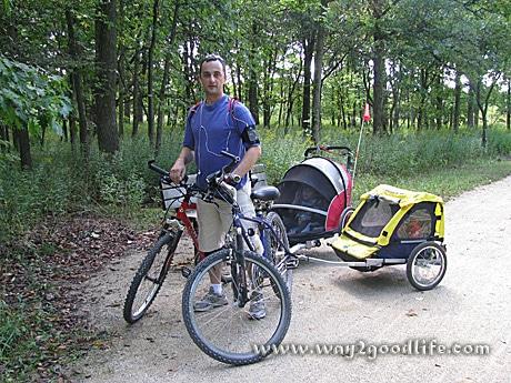 Bike Ride w trailers