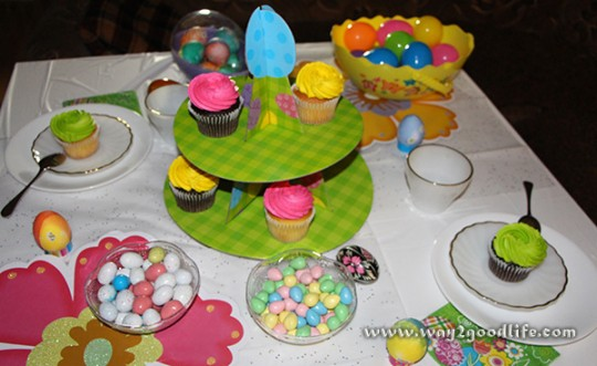 Smartphone Photography - picture of Easter Table