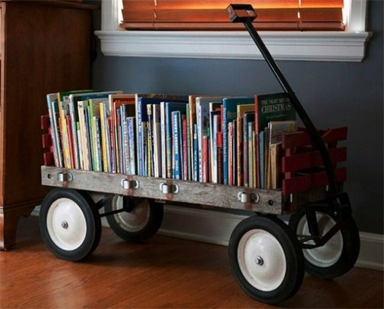 How to simplify Your Life by converting an old wagon into a mobile library