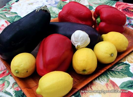 Vegetables for Ajvar Paleo Dip