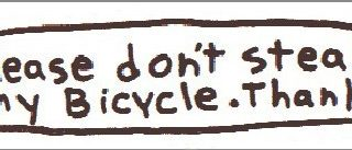 don't steal my bike aticker