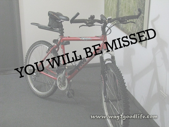 Bike: you will be missed