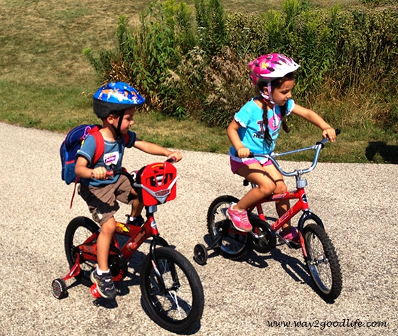 Making holidays count - my kids love their bikes