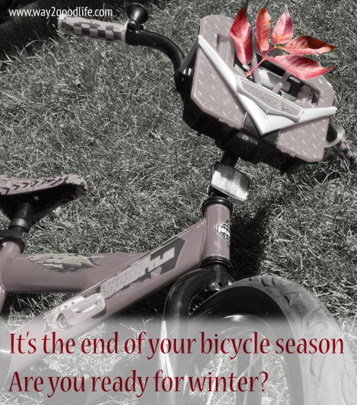 It's the end of the bicycle season - winter storage