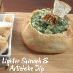 Lighter Spinach Artichoke Dip Recipe