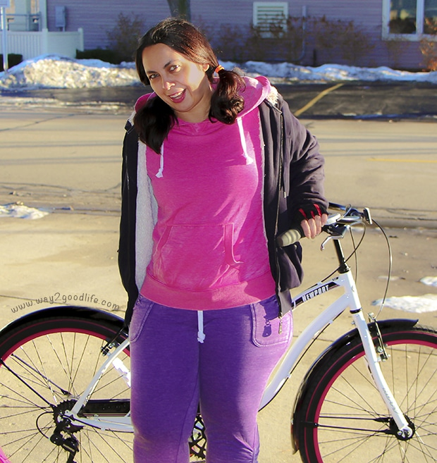 Enjoying my Huffy Bike