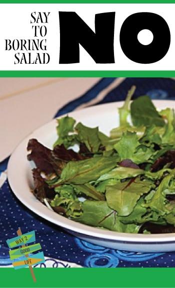 Say NO to the boring salad - make it fun!