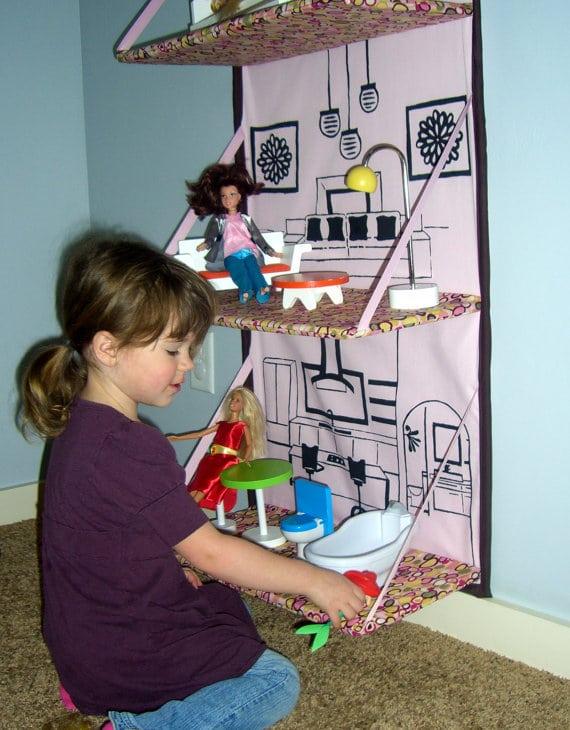 Fold Away Doll House - Crazy Doll Houses
