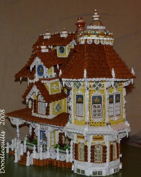 Quilled Doll house - crazy doll houses
