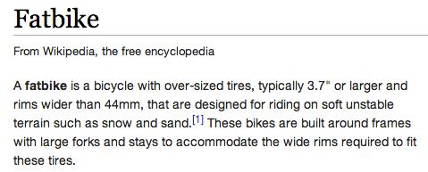 Fatbike wikipedia