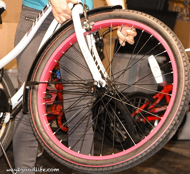 Checking wheels for bicycle safety checklist