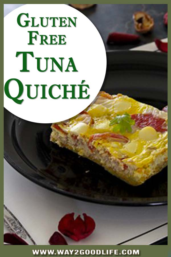 This Gluten Free Tuna Quiche recipe is not just healthy - it is also DELICIOUS!