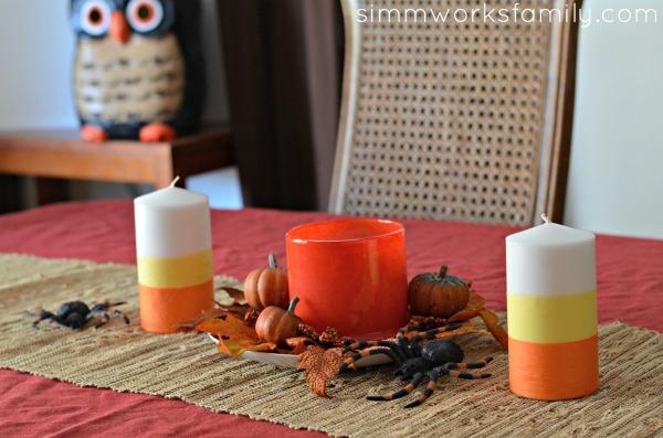 DIY-Candy-Corn-Candles-Halloween-Centerpiece-Idea