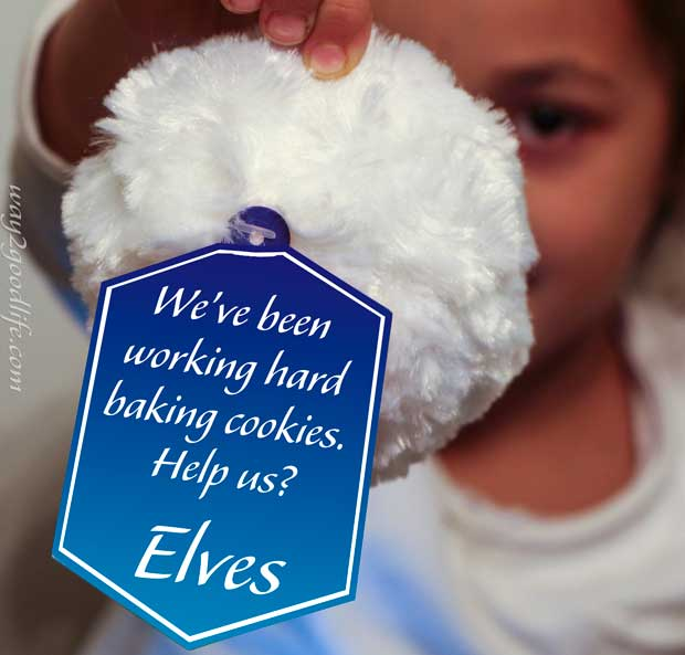 Snowball message: Help us make cookies for Santa?