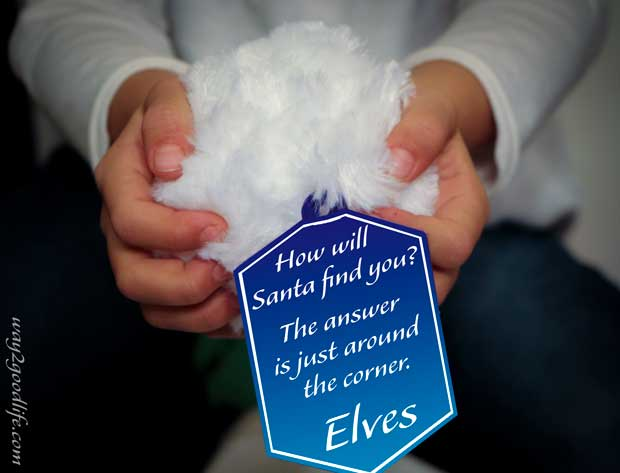 Snowball message: how will Santa find you? #Northpolefun #shop