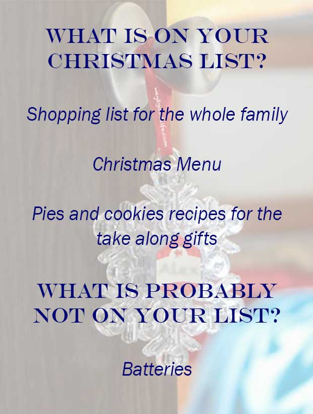 What is not on your Christmas list?