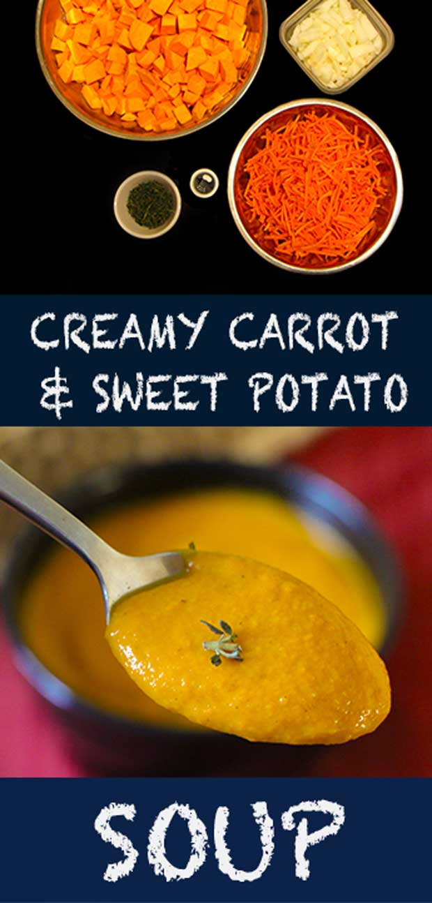 Love creamy soups? This one is not only delicious, but is also healthy and easy (Thank you crockpot!)