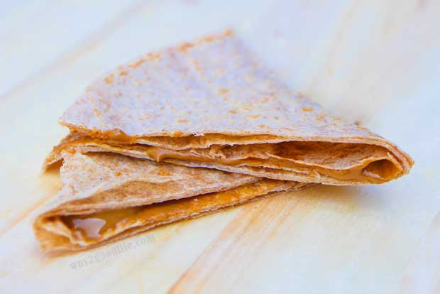 Pack a Snack for Camp with peanut butter flat bread