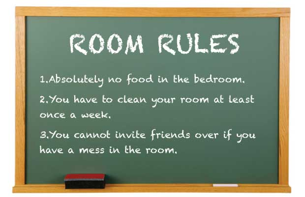 The Board With Room Rules