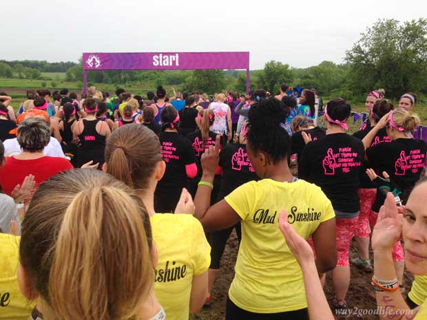 Mudderella start point