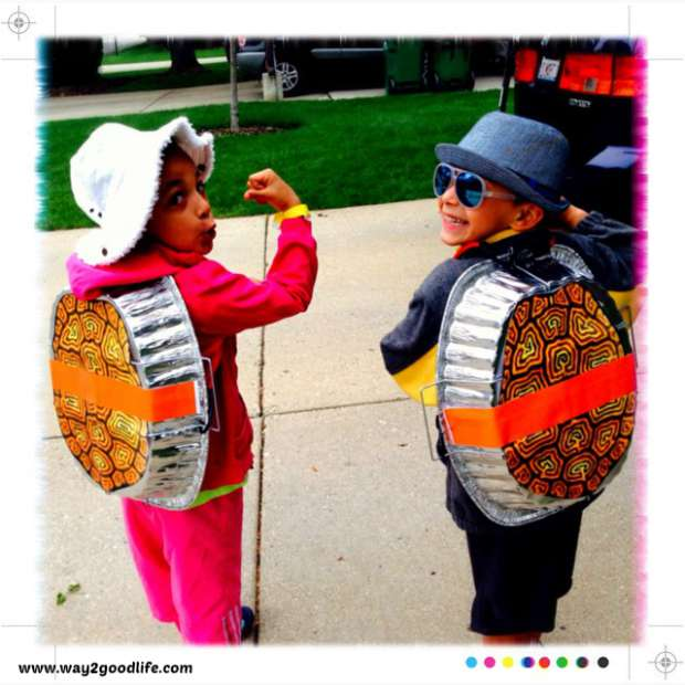 9 easy to make Halloween costumes for kids: Turtles Costumes