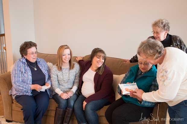 Family Gathers around wipes