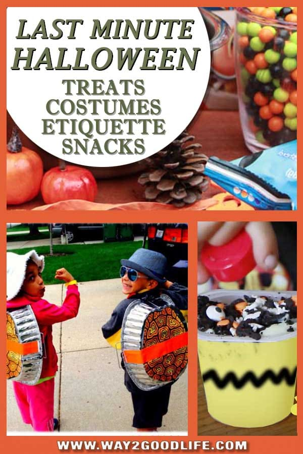 Last Minute Halloween: DIY costumes, easy to make treats and snack and even rules to happy Halloween