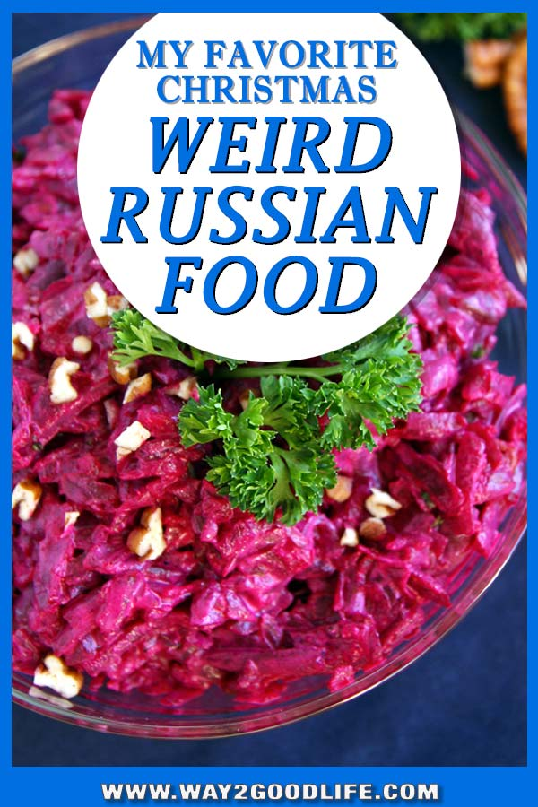 HAVE YOU TRIED THESE WEIRD RUSSIAN HOLIDAY DISHES? Fish in the salad and beets as a topping? How can these be real? Not only sharing weird Russian salads, but also including recipes!