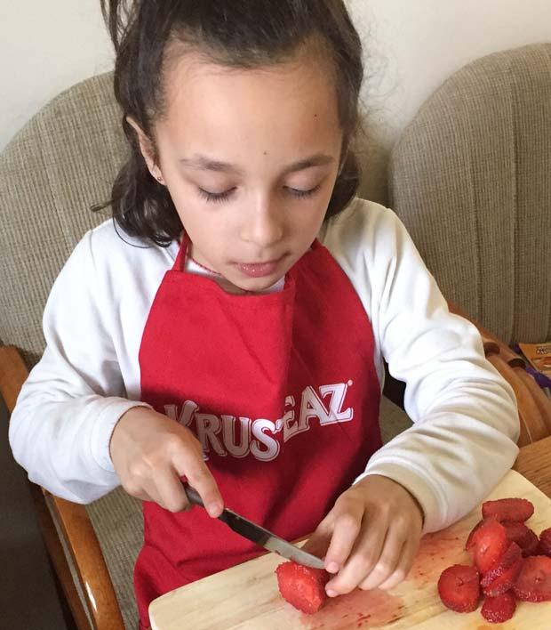Cutting-strawberries