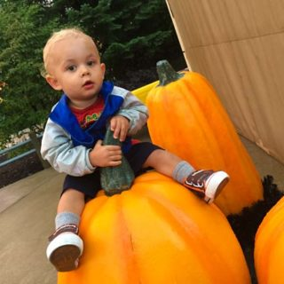 Baby on Pumpkin #MidwestTravel #Travel #CedarPoint #Way2GoodLife